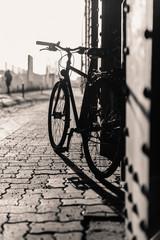 Silhouette of a mountainbike