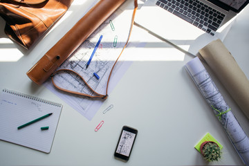 Architect's workspace
