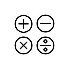 Modern calculation line icon.