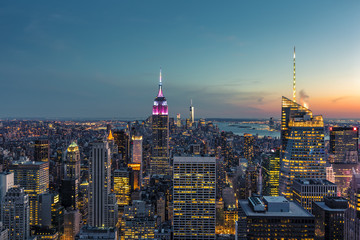 New York City Skyline at the Blue Hour