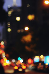Out of focus city lights