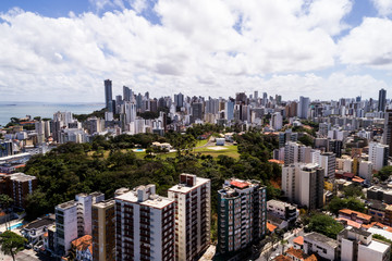 Aerial View of Salvador Skyline, Bahia, Brazil