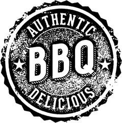 Vintage BBQ Restaurant Menu Stamp