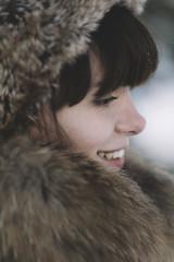 happy winter portrait