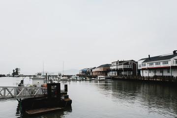 Gloomy day on a pier