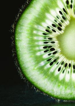 Sliced Kiwi Close Up