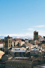 Segovia Skyline in Winter