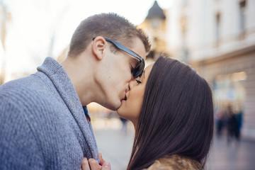 Celebrating Valentine's day with kisses