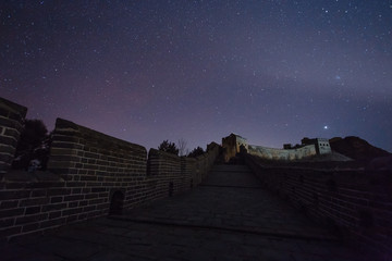 The Great Wall  under the starry