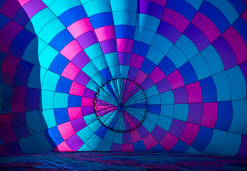 Hot air balloon's pattern in sunlight