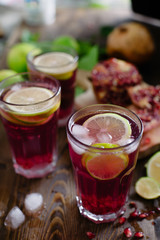 Cocktail drink with pomegranate
