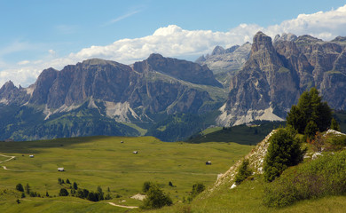 Dolomites with Sassongher peak, Italy