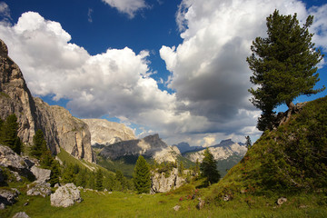 View of Dolomites, Italy