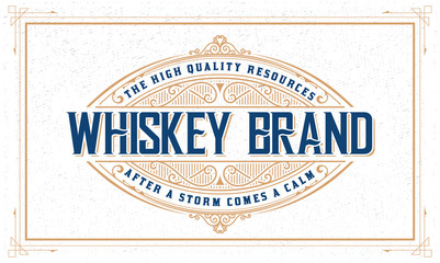 Whiskey logo with vintage frame
