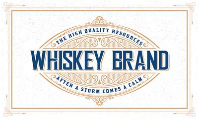 Whiskey logo with vintage frame