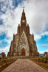 Gothic style cathedral in the city of Canela - Rio Grande do Sul, Brazil.