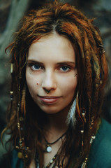 Young hippie with dreadlocks