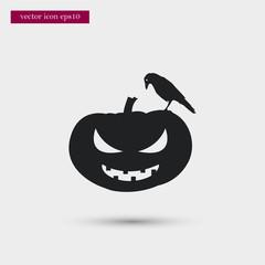 Pumpkin icon simple vector sign
