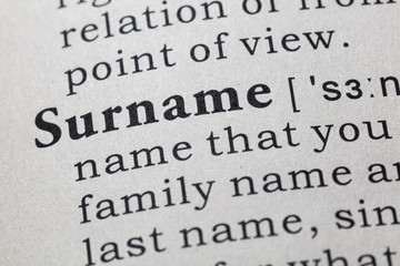 definition of Surname