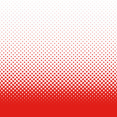 Retro abstract halftone ellipse pattern background - vector design with red color diagonal elliptical dots on white background