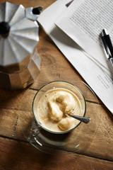 Coffee with vanilla ice-cream