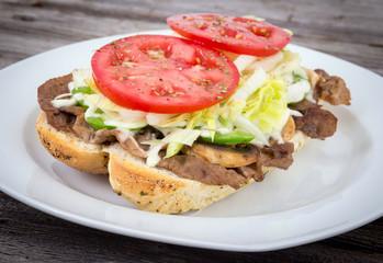 beef steak sub sandwich