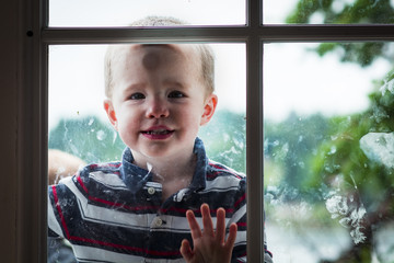 Toddler Boy in the Window