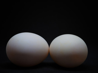 Closeup Duck eggs , healthy food.