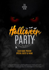 Halloween party. Poster. Vector