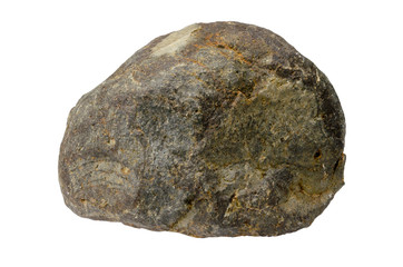 Big granite rock stone, isolated on white background.rock stone isolated on white background.clipping path.