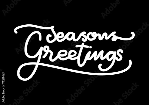 Hand lettering seasons greetings on black background modern hand lettering seasons greetings on black background modern calligraphy handwritten inspirational motivational quote m4hsunfo