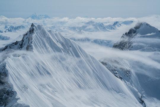 Fog mountain peaks
