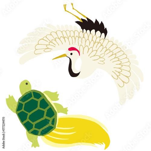 鶴と亀 イラストfotoliacom の ストック画像とロイヤリティフリーの