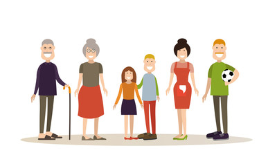 Family people concept vector illustration in flat style