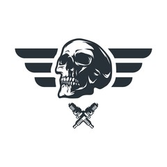 Skull logo mascot icon vector illustration