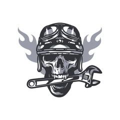 Skull logo mascot icon vector illustration