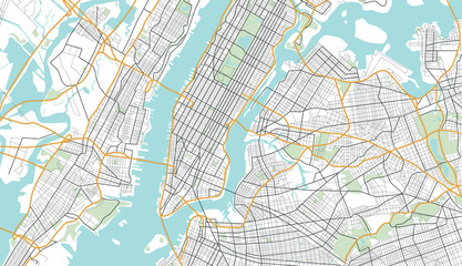 New York City Map. Vector Illustration.