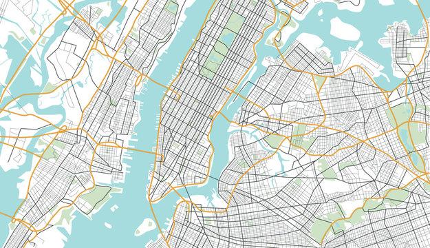 New York City Map. Vector Illustration.