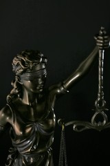An concept Image of a dark justice Lady - symbol