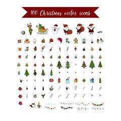 Big Christmas icon set. 100 winter icons.