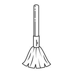 broom cleaner isolated icon