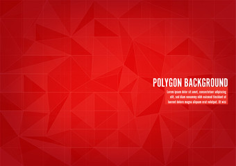 Red Polygonal Mosaic Background, Vector illustration, Creative Business Design Templates