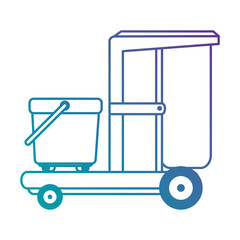 toilet trolley isolated icon