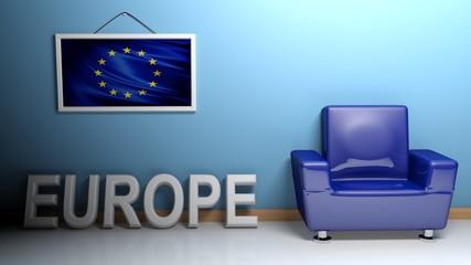 Room of Europe - 3D rendering
