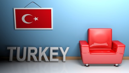 Room of Turkey - 3D rendering