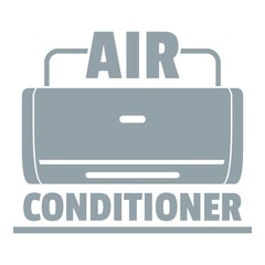 Air conditioner logo, simple gray style