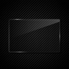 Fototapete - glass transparent frame vector