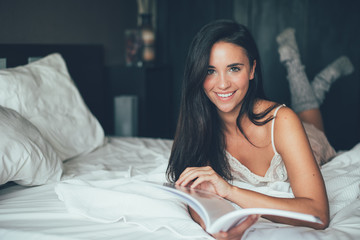 Attractive woman with book