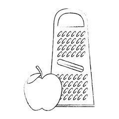 cheese grater with apple