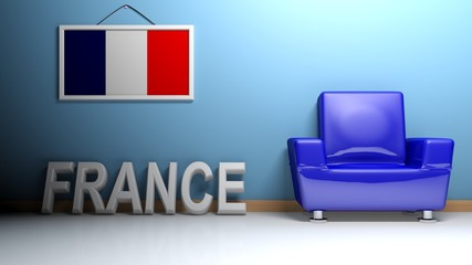 Room of France - 3D rendering